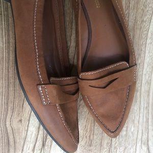 Franco Sarto Brown Leather Flats